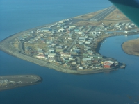Figure 1. Aerial view of Native Village of Unalakleet, Alaska in the Norton Sound southern sub-region in 2017. Photo courtesy of Jordan P. Lewis.