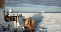 The U.S. Coast Guard awarded five firm fixed price contracts for heavy polar icebreaker design studies and analysis 22 February 2017.  The studies will inform the Coast Guard's acquisition of heavy polar icebreakers to replace the current operational fleet that includes one heavy polar icebreaker, USCGC POLAR STAR (foreground, shown cutting a channel in the Ross Sea as part of Operation Deep Freeze 2017).  U.S. Coast Guard photo by Chief Petty Officer David Mosley.