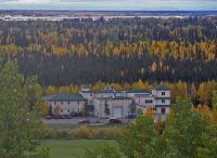 Figure 1. Fall Colors: CCHRC's Research and Testing Facility in Fairbanks, Alaska is considered the farthest-north LEED Platinum building in the world, demonstrating innovations such as geothermal, solar, and cold-climate building science. Photo Courtesy of CCHRC.