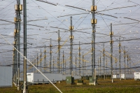 The 33-acre HAARP antenna array near Gakona, Alaska. Photo courtesy of Todd Paris of UAF.