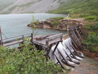 Community drinking water source in Alaska (2015). Photo courtesy of H. Penn.