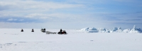8 May 2014 - Hunters cross the sea ice outside of Shishmaref.