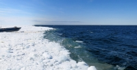 8 May 2014 - Ice edge at Shishmaref's boat launch.