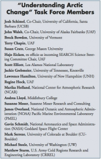 """Understanding Arctic Change"" Task Force Members"