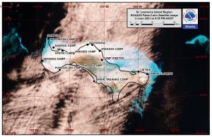 St. Lawrence Island Area Satellite Image