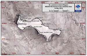 St. Lawrence Island satellite image