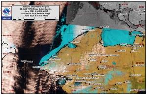 Wales to Shishmaref Area Satellite Image