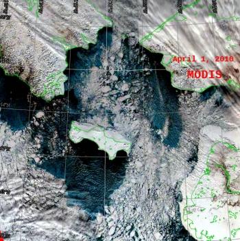 Remote sensing data closeup image