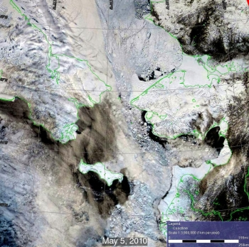 Remote sensing data closeup