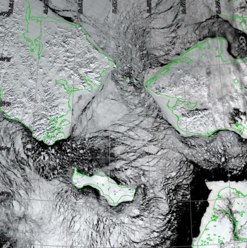 Remote sensing data closeup