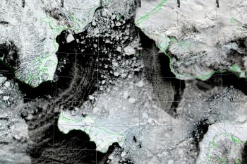 Bering Strait Closeup