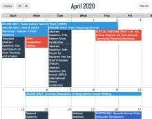 Visit the Arctic Calendar to See Updates on Events