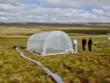 Completed greenhouse at Toolik Field Station, Alaska. Photo by David Walker.