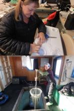 PolarTREC educator Denise Hardoy and Amy Osborne