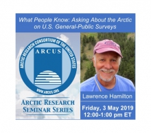 Arctic Research Seminar with Lawrence Hamilton