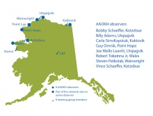 Figure 1. Map of current AAOKH communities, local observers, and Science Steering Group members. Figure by Heather McFarland, courtesy of AAOKH.