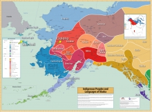 Image 1. The communities of Gambell in the Bering Strait region and Galena, Alaska, in the middle-Yukon River region are located in the Siberian Yupik and Koyukon Athabascan Dene lands, respectively. This map is adopted from Krause et al. (2011). Permission to use this map for non-commercial, educational purposes is granted under a Creative Commons Attribution-Noncommercial-No Derivative Works 3.0 United States License.