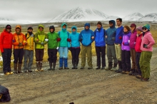 Participants of the 2015 IARC Summer School on the North Slope of Alaska. Photo courtesy of Erica Zell.