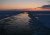 Sunset on the Bering Sea, from the USCGC Healy icebreaker.