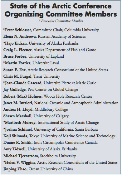 State of the Arctic 2010 Organizing Committee