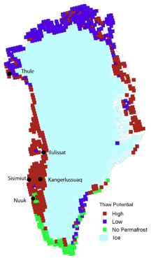 Permafrost Thaw Potential for Greenland.