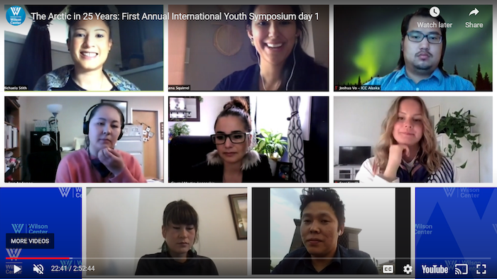 Figure 1. Image of Arctic Council Permanent Participant Youth Panel. Photo courtesy of the Wilson Center.