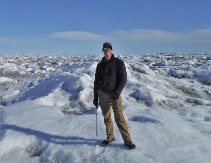 Image 3. Sasha Leidman on the Greenland Ice Sheet. Photo courtesy of Sasha Leidman.