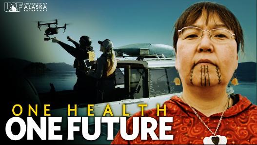 Amy Topkok of the Pavva Iñupiaq Dancers of Fairbanks. Photo courtesy of the University Alaska Fairbanks Center for One Health Research.