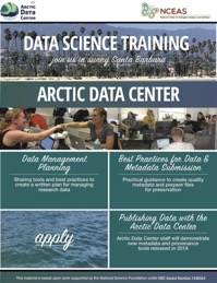 2018 Data Science Training for Arctic Research flyer. Image courtesy of the Arctic Data Center.