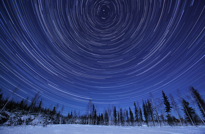 Figure 3. Time-lapse photograph of stars near Fairbanks, Alaska. Photo courtesy of Cannon.