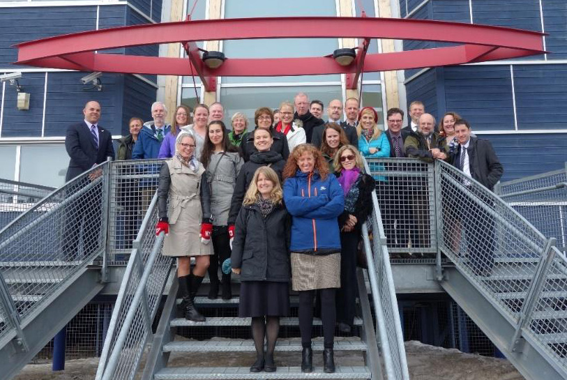 Members of the inaugural Fulbright Arctic Initiative 2015-2017 cohort met in Iqaluit, Canada, to kick off the program. Photo courtesy of Fulbright Canada.